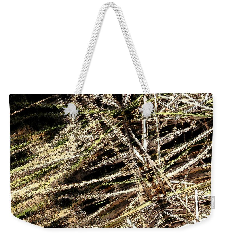 Reeds Weekender Tote Bag featuring the photograph Reeds Reflected by Steven Sparks