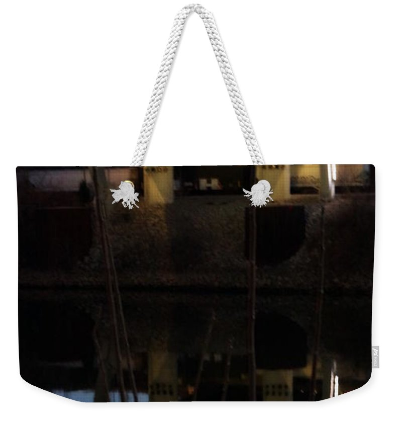 Digital Photograph Weekender Tote Bag featuring the photograph Reflected Below by Laurie Pike