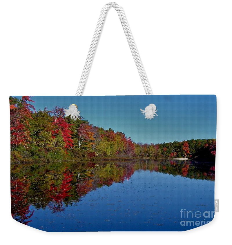 Autumn Weekender Tote Bag featuring the photograph Reflected Color by Rick Monyahan
