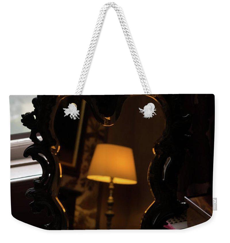 Georgia Mizuleva Weekender Tote Bag featuring the photograph Reflecting On Lamps And Dreams by Georgia Mizuleva