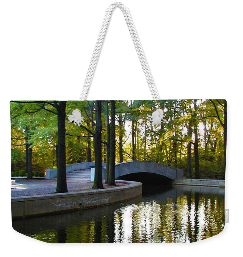 Washington Weekender Tote Bag featuring the photograph Reflecting Pool Roosevelt Park by Bill Cannon