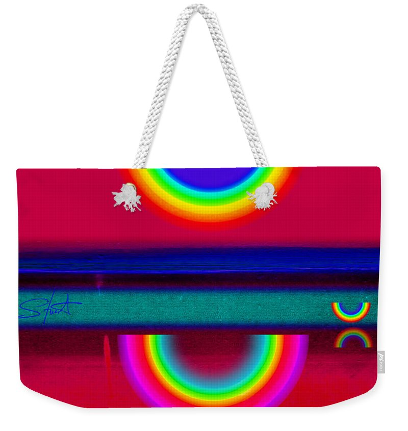 Reflections Weekender Tote Bag featuring the painting Reflectins On A Sunset by Charles Stuart