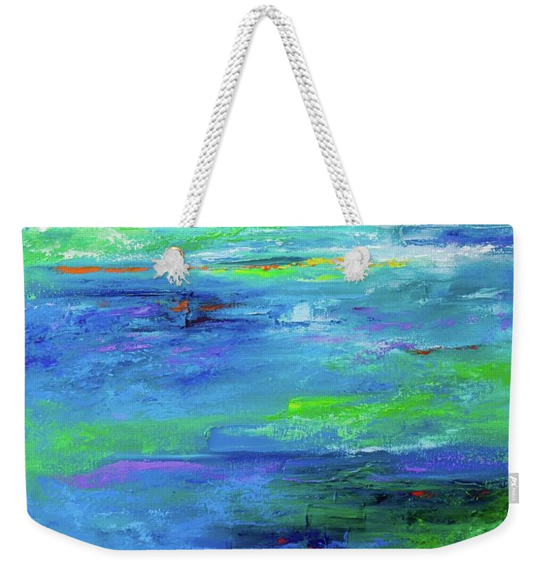Art Weekender Tote Bag featuring the painting Reflection-2 by Nutthawee Charusrisith
