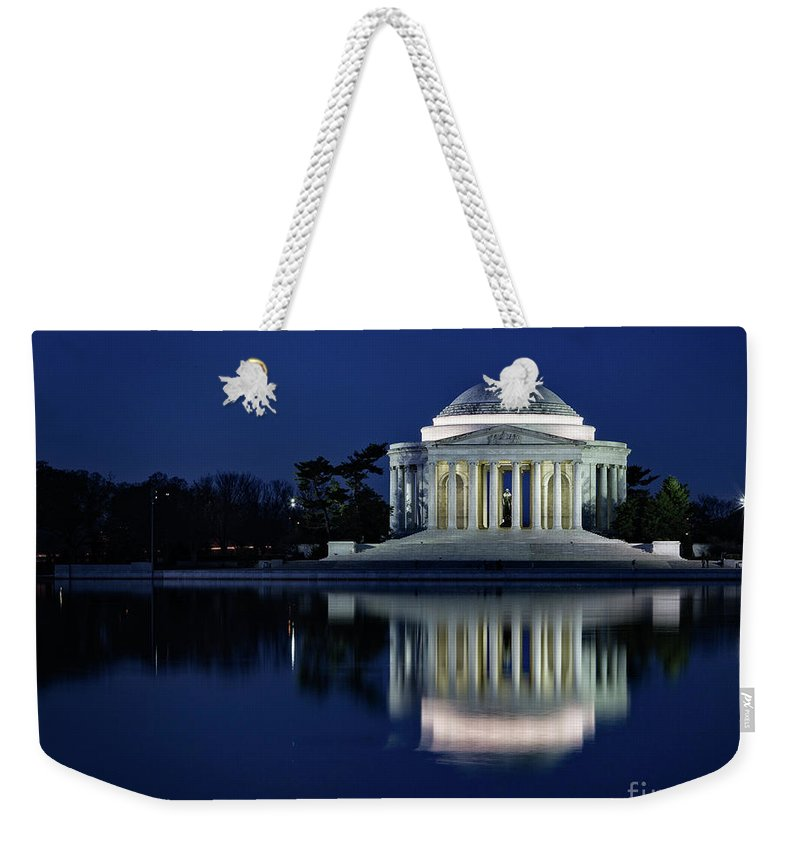 Washington Weekender Tote Bag featuring the photograph Reflection At Blue Hour by Izet Kapetanovic