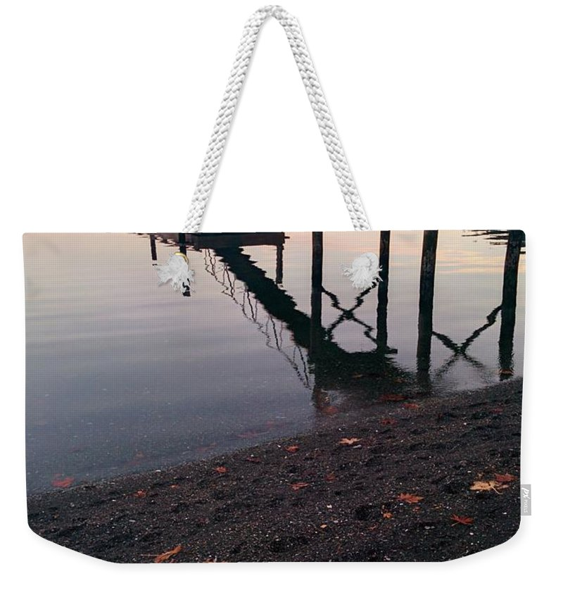 Weekender Tote Bag featuring the photograph Reflection by Maria Verdicchio