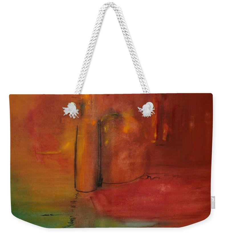 Still Weekender Tote Bag featuring the painting Reflection Of Still Life by Jack Diamond