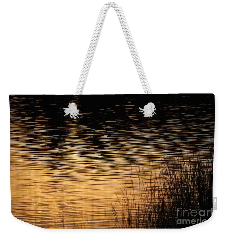 Digital Photo Weekender Tote Bag featuring the photograph Reflection On A Sunset by David Lane