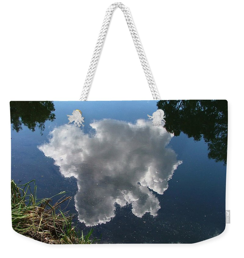Pecos Weekender Tote Bag featuring the photograph Reflection by Steven Natanson