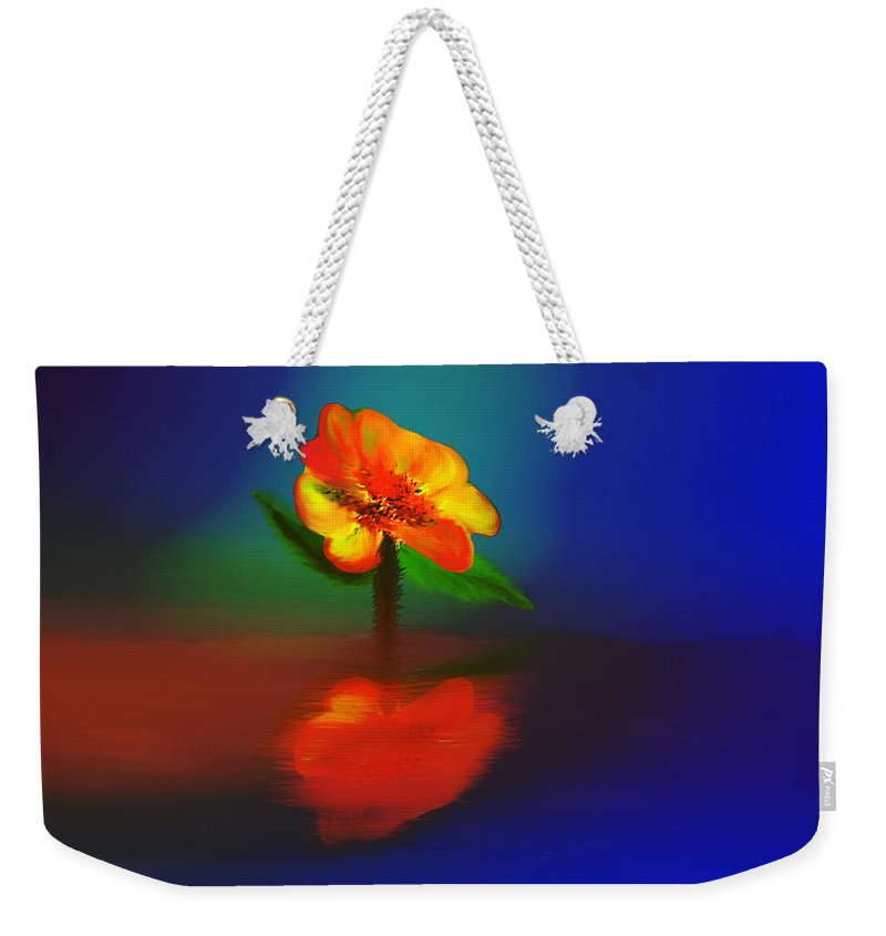 Colorful Weekender Tote Bag featuring the digital art Reflection by Unique Feathers