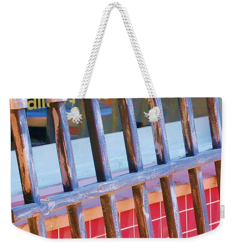Gate Weekender Tote Bag featuring the photograph Reflections by Debbi Granruth