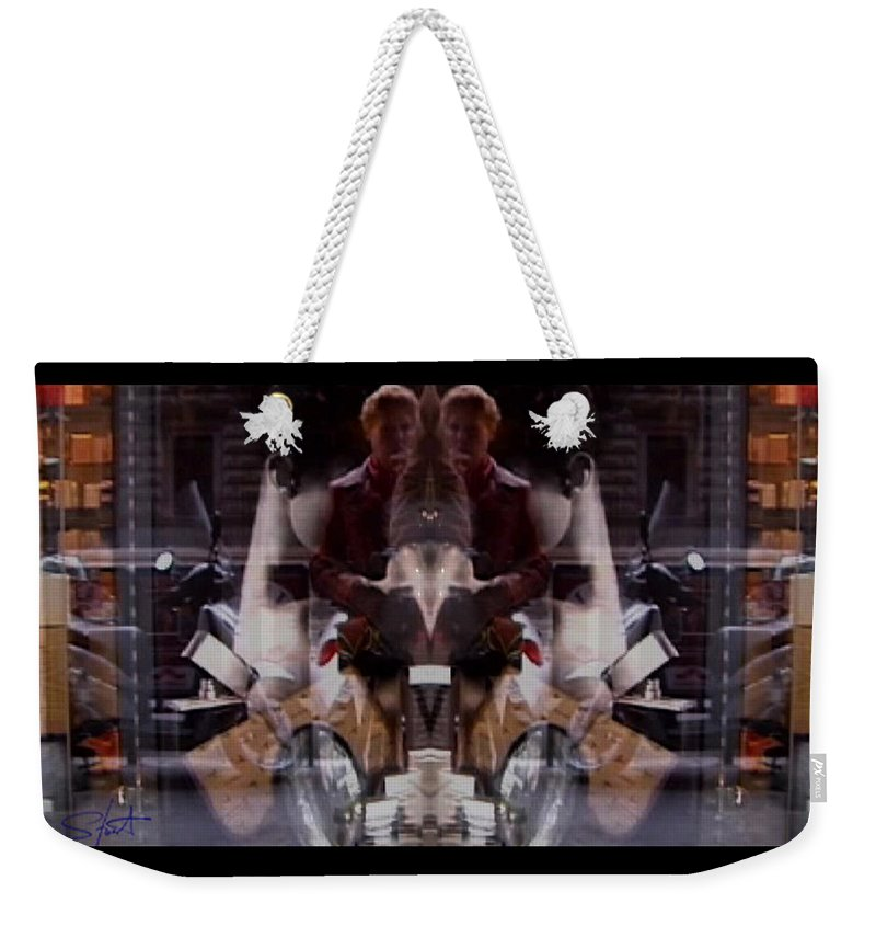 Dream Weekender Tote Bag featuring the photograph Reflections In A Pharmacy Window by Charles Stuart