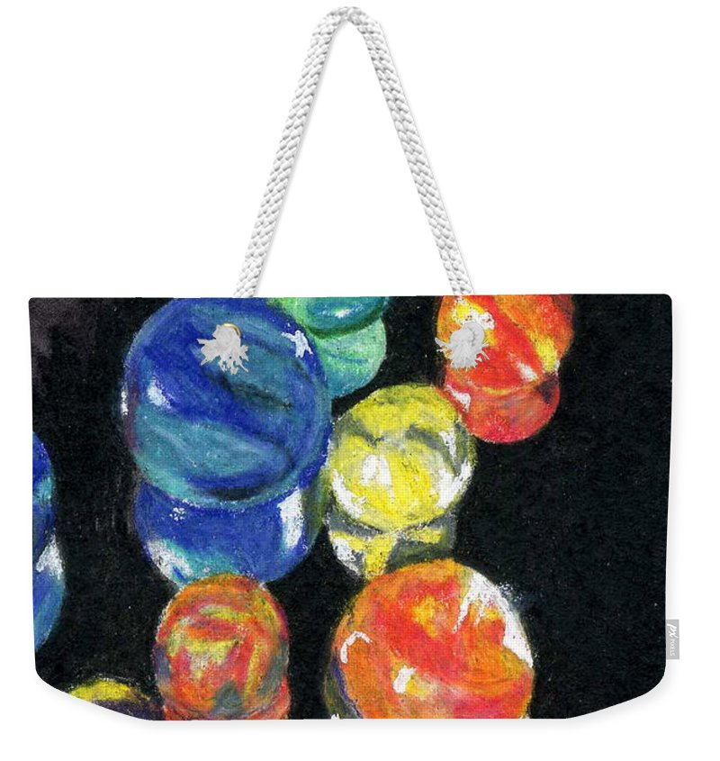 Watercolor Weekender Tote Bag featuring the painting Reflections In Black by Lynne Reichhart