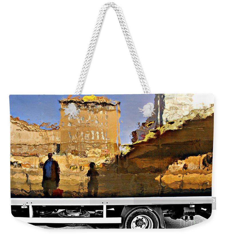 Reflection Weekender Tote Bag featuring the photograph Reflections In Budapest by Madeline Ellis