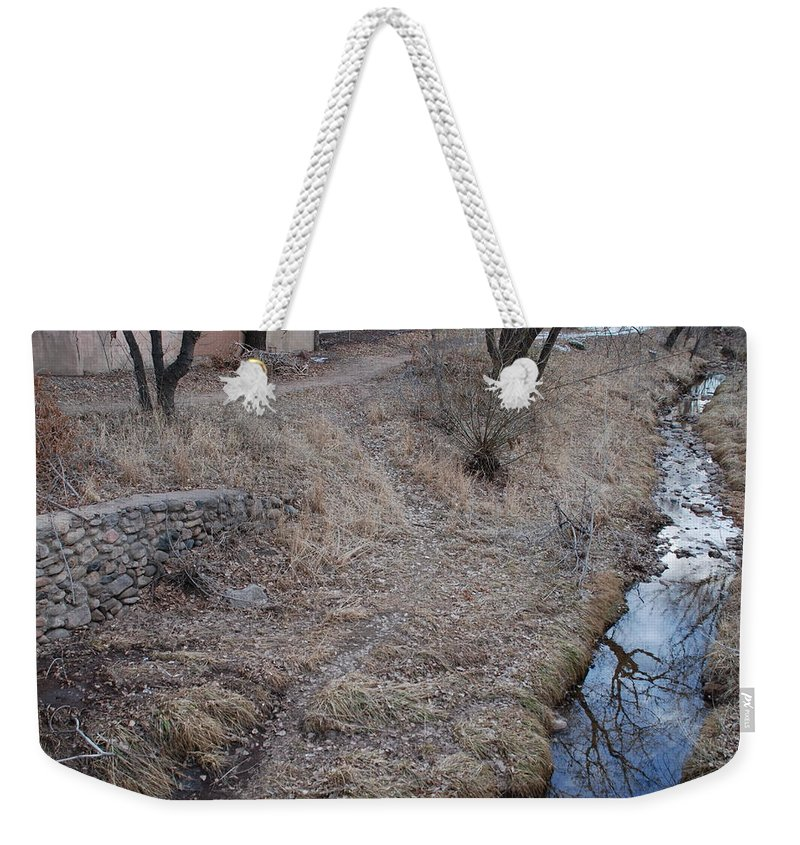 Water Weekender Tote Bag featuring the photograph Reflections In The River by Rob Hans