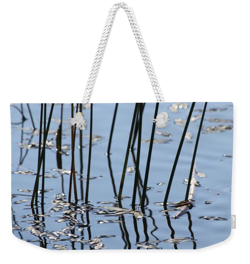 Pond Weekender Tote Bag featuring the photograph Reflections by Lauri Novak