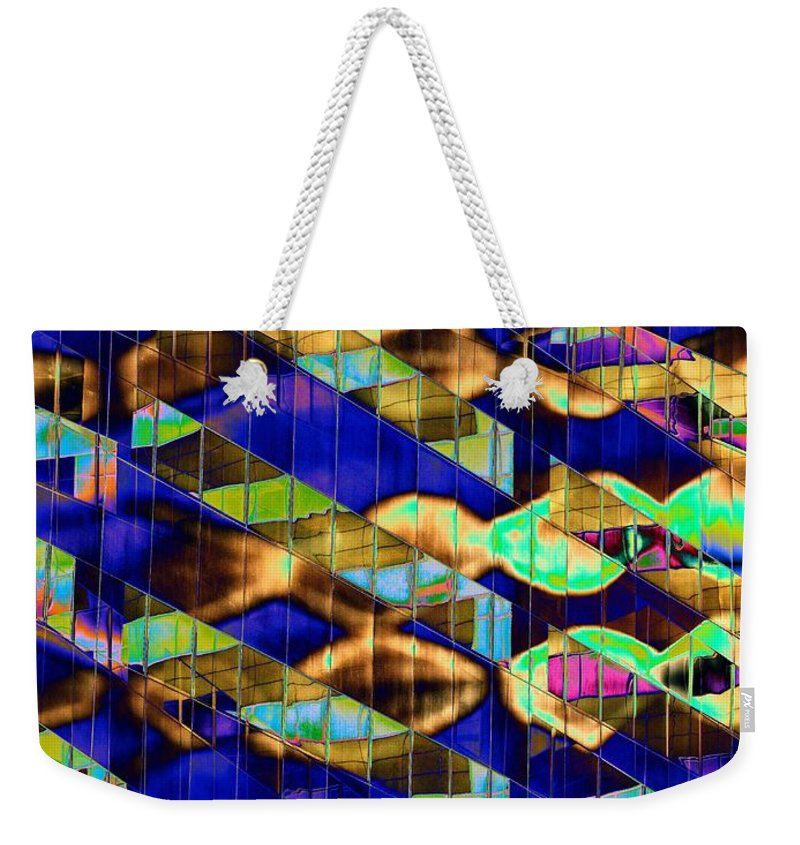Reflection Weekender Tote Bag featuring the digital art Reflections Of A City 2 by Tim Allen