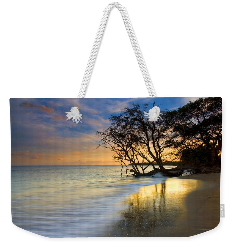 Waves Weekender Tote Bag featuring the photograph Reflections Of Paradise by Mike Dawson