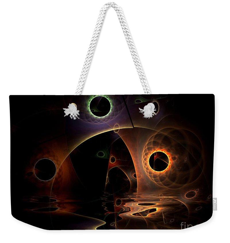 Digital Weekender Tote Bag featuring the digital art Reflections Of The Mind by Deborah Benoit