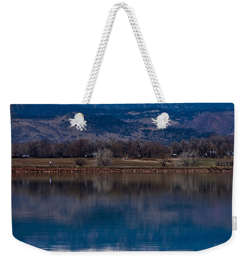 Twin Peaks Weekender Tote Bag featuring the photograph Reflections Of The Twin Peaks by James BO Insogna