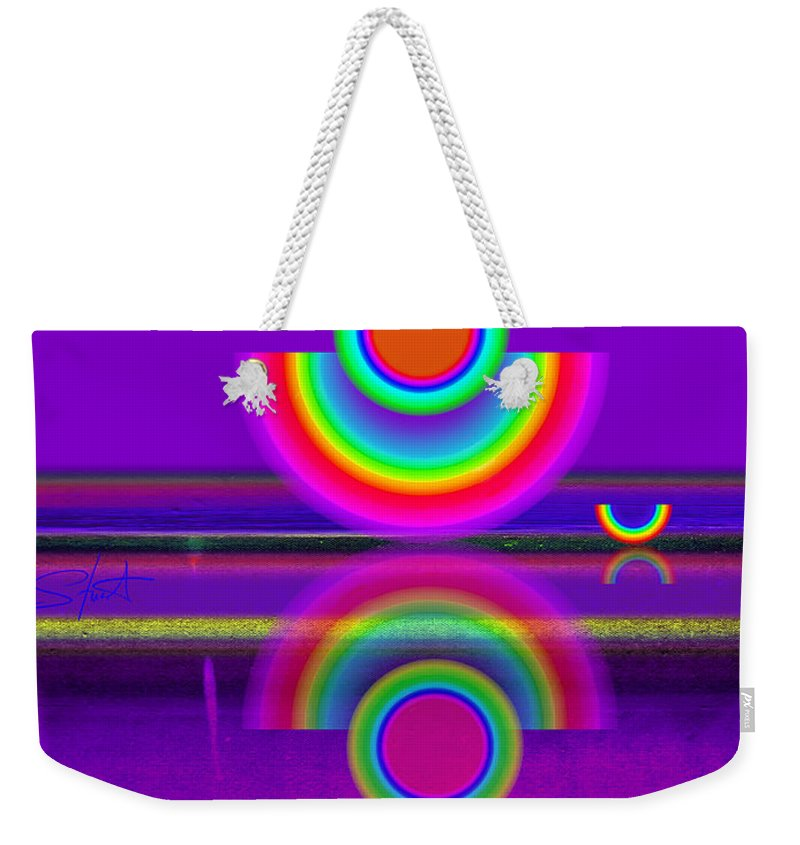 Reflections Weekender Tote Bag featuring the painting Reflections On Mauve by Charles Stuart
