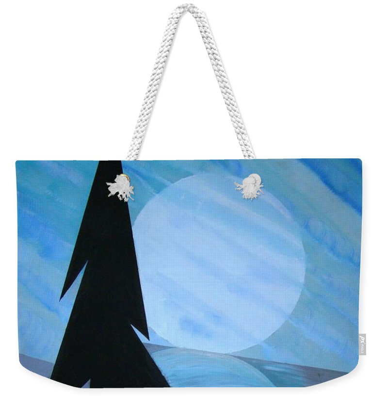 Phases Of The Moon Weekender Tote Bag featuring the painting Reflections On The Day by J R Seymour
