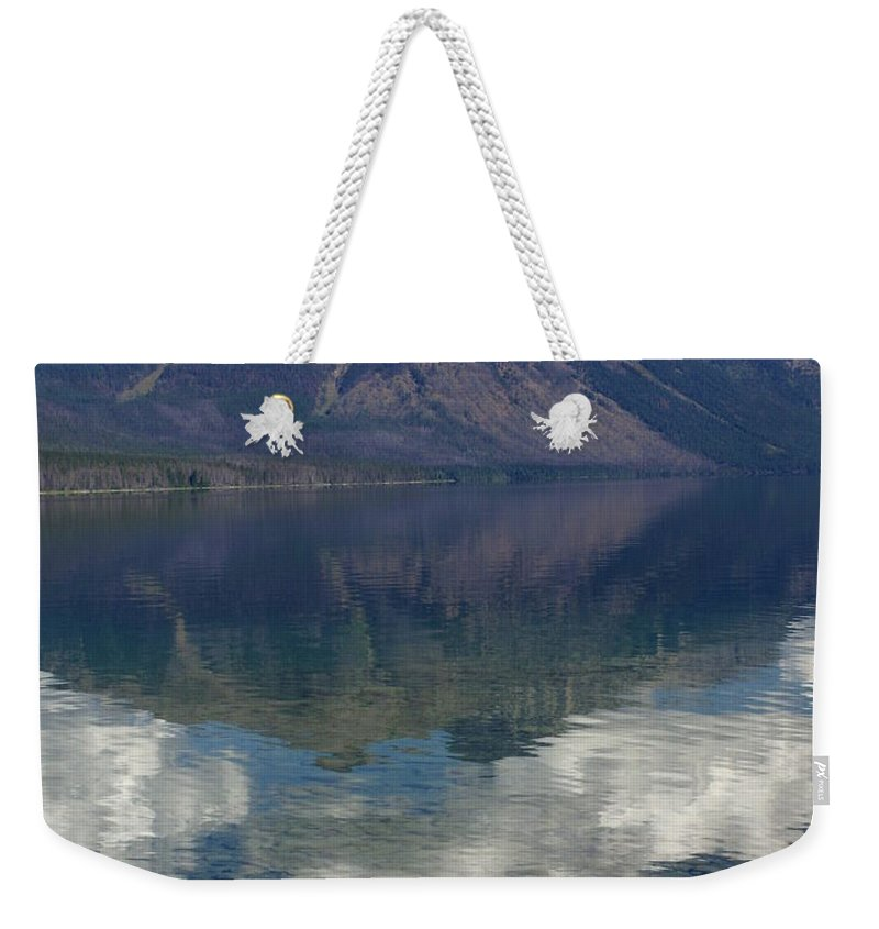 Lake Weekender Tote Bag featuring the photograph Reflections On The Lake by Marty Koch