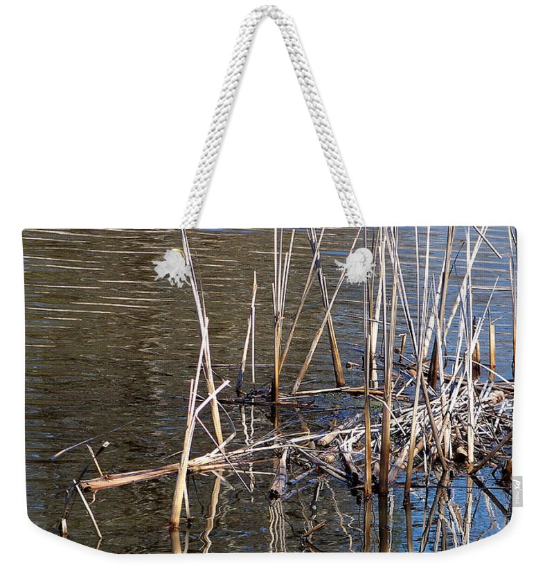 Nature Weekender Tote Bag featuring the photograph Reflections On The Yellow River by Lauren Radke