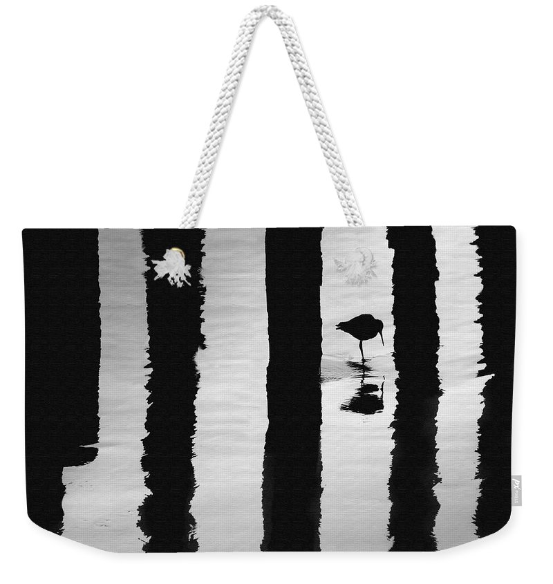 Bird Weekender Tote Bag featuring the photograph Reflections by Sharon Foster