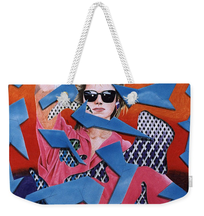 Woman Weekender Tote Bag featuring the drawing Reflections by Shaun McNicholas