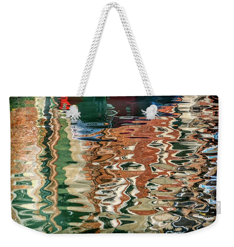 Italy Weekender Tote Bag featuring the photograph Reflections Venice_dsc4687_03032017 by Greg Kluempers