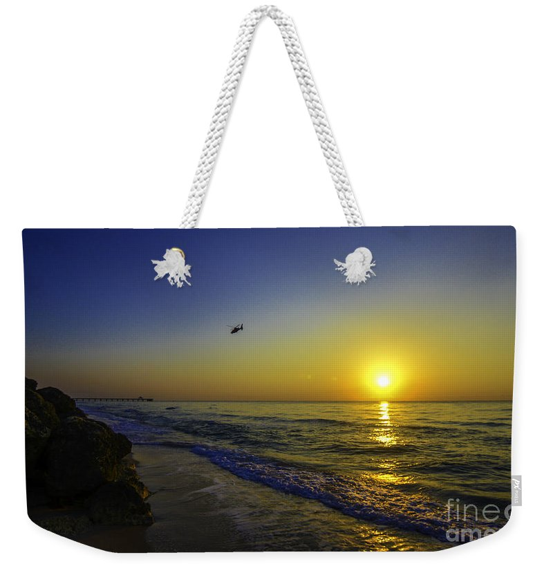 Beach Weekender Tote Bag featuring the photograph Reflective Journey by Amanda Sinco