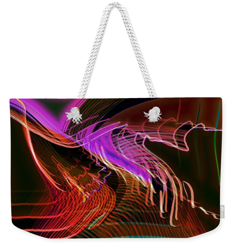 Drawing Weekender Tote Bag featuring the digital art Reflexions Red by Helmut Rottler