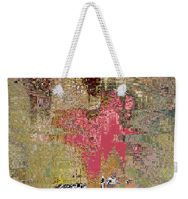 Reds Weekender Tote Bag featuring the digital art Reflextions by Michael L McKinley