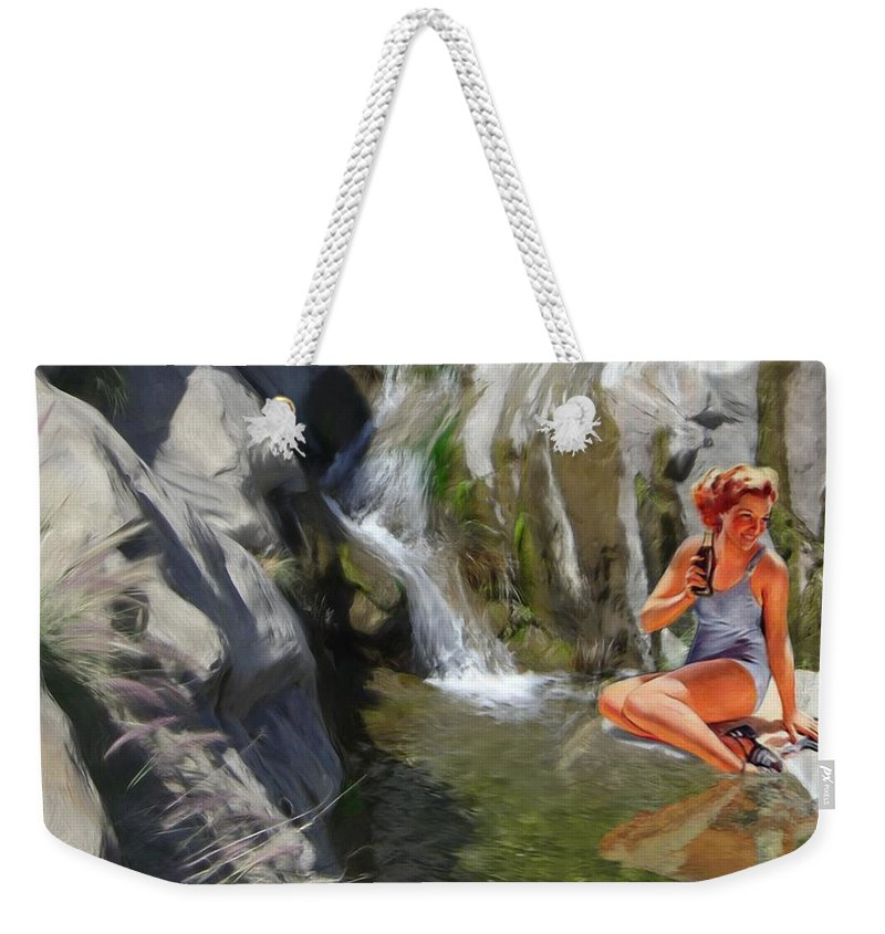 Deserts Weekender Tote Bag featuring the digital art Refreshments by Snake Jagger