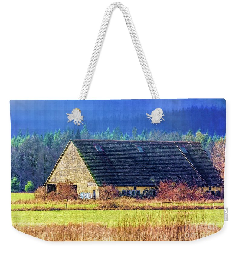 Refuge Weekender Tote Bag featuring the photograph Refuge Barn by Jean OKeeffe Macro Abundance Art