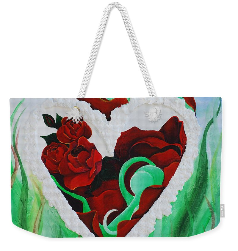 Refuge Weekender Tote Bag featuring the painting Refuge by Catt Kyriacou