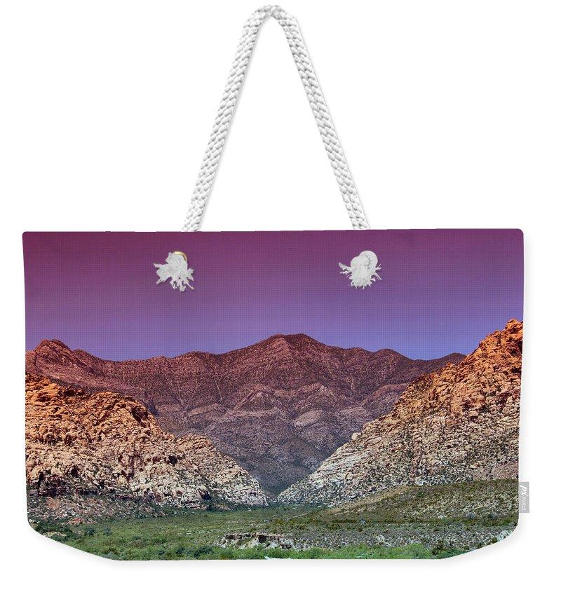 Mountain Weekender Tote Bag featuring the photograph Regal Desert by DJ Florek