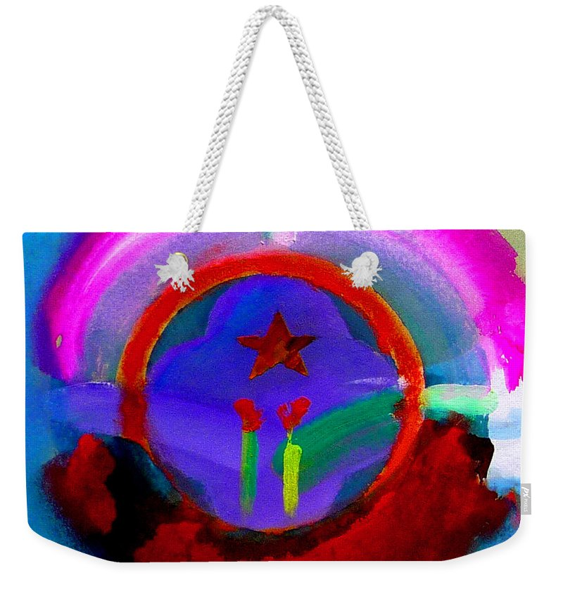 Love Weekender Tote Bag featuring the painting Regeneration by Charles Stuart