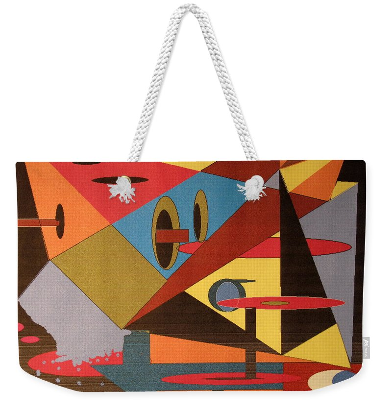 Abstract Weekender Tote Bag featuring the digital art Regret by Ian MacDonald