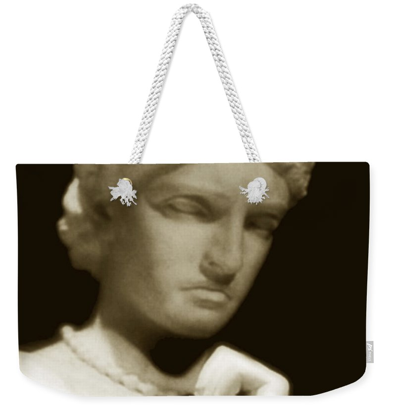 Woman Weekender Tote Bag featuring the photograph Regret by RC DeWinter