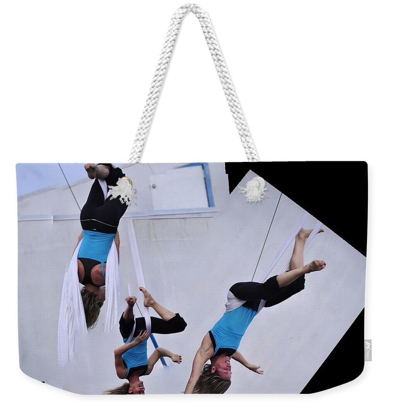 Clay Weekender Tote Bag featuring the photograph Rehearsing by Clayton Bruster