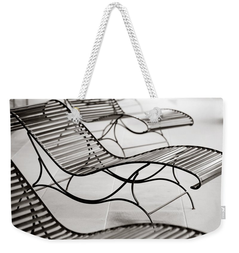 Chair Weekender Tote Bag featuring the photograph Relaxation by Marilyn Hunt
