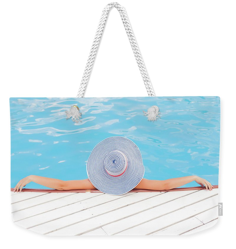 Young Adult Photographs Weekender Tote Bags