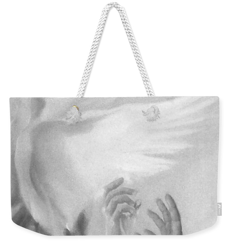 Bird Weekender Tote Bag featuring the painting Release by Denise Fulmer