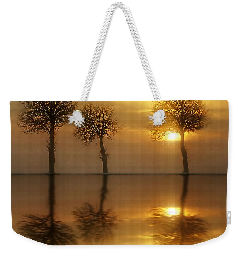 Sunset Weekender Tote Bag featuring the photograph Remains Of The Day by Jacky Gerritsen