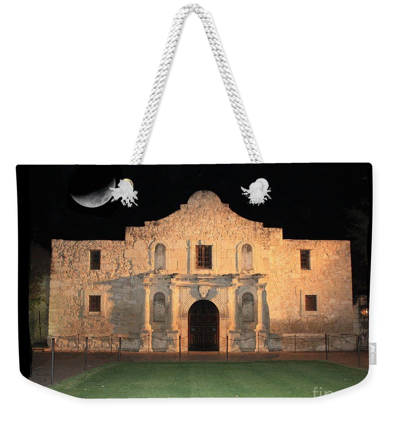 Remember The Alamo Weekender Tote Bag featuring the photograph Remember The Alamo by Carol Groenen
