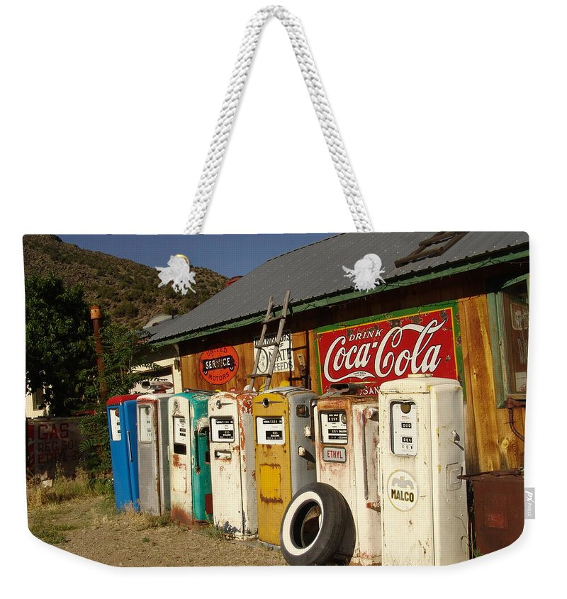 Auto Weekender Tote Bag featuring the photograph Remember When by Carol Milisen