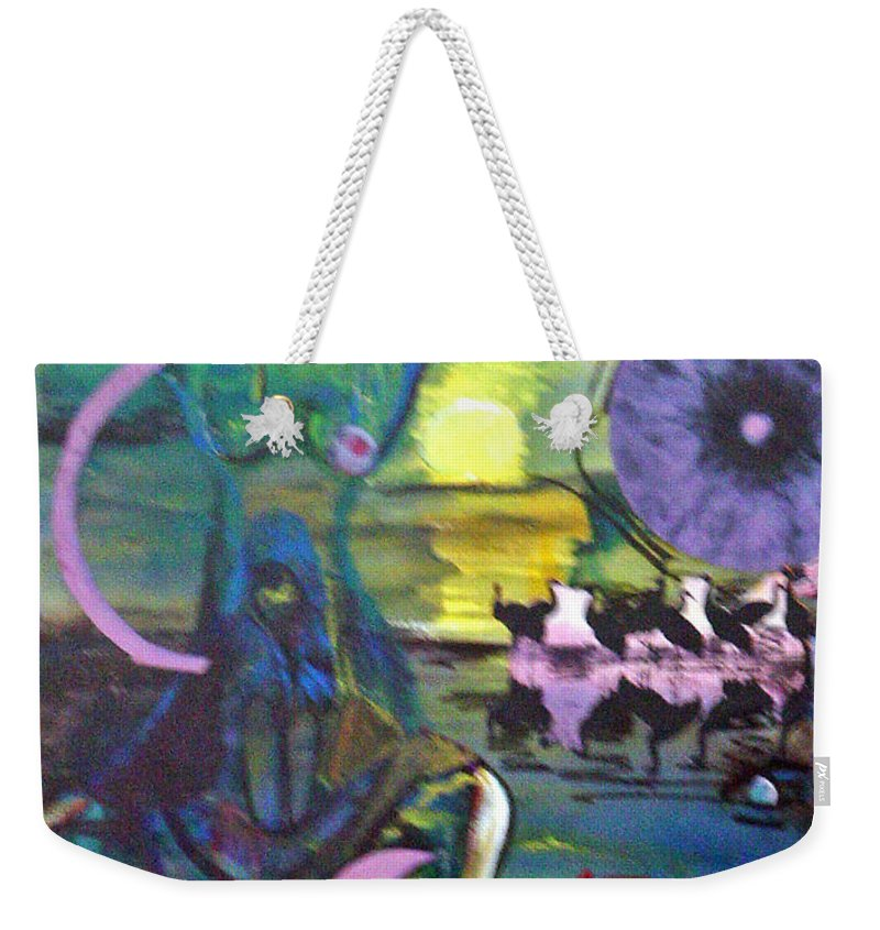 Water Weekender Tote Bag featuring the painting Remembering 9-11 by Peggy Blood