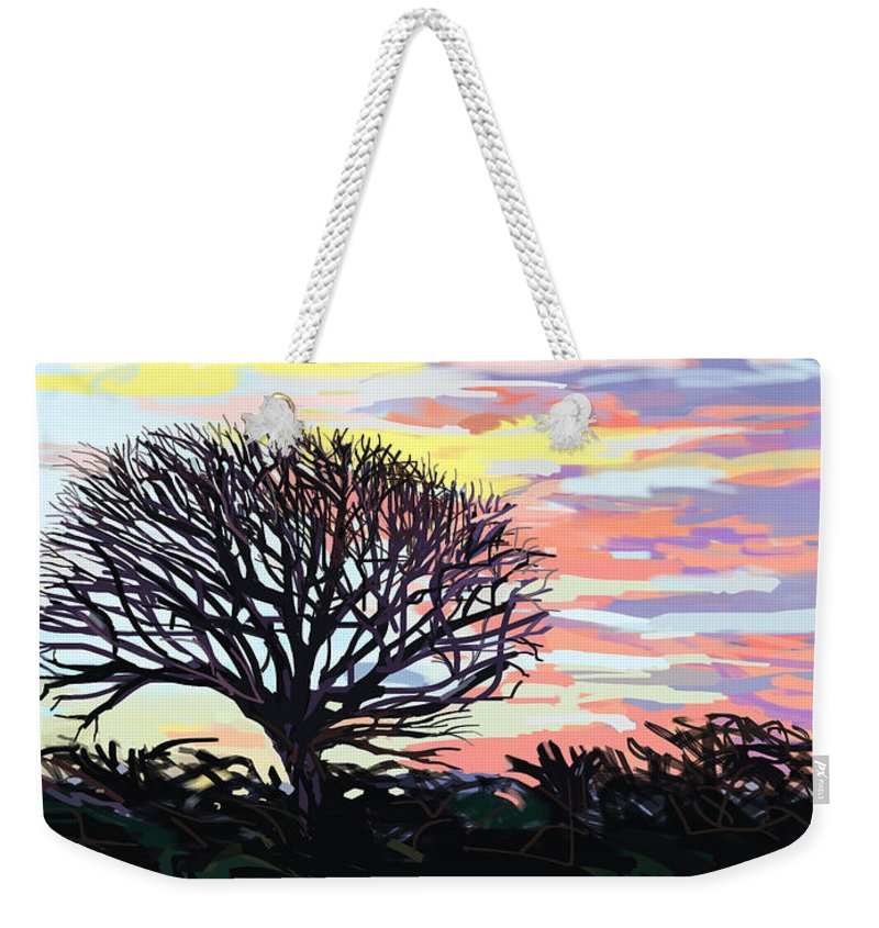 Autumn Weekender Tote Bag featuring the digital art Remembering Autumn by Plum Ovelgonne