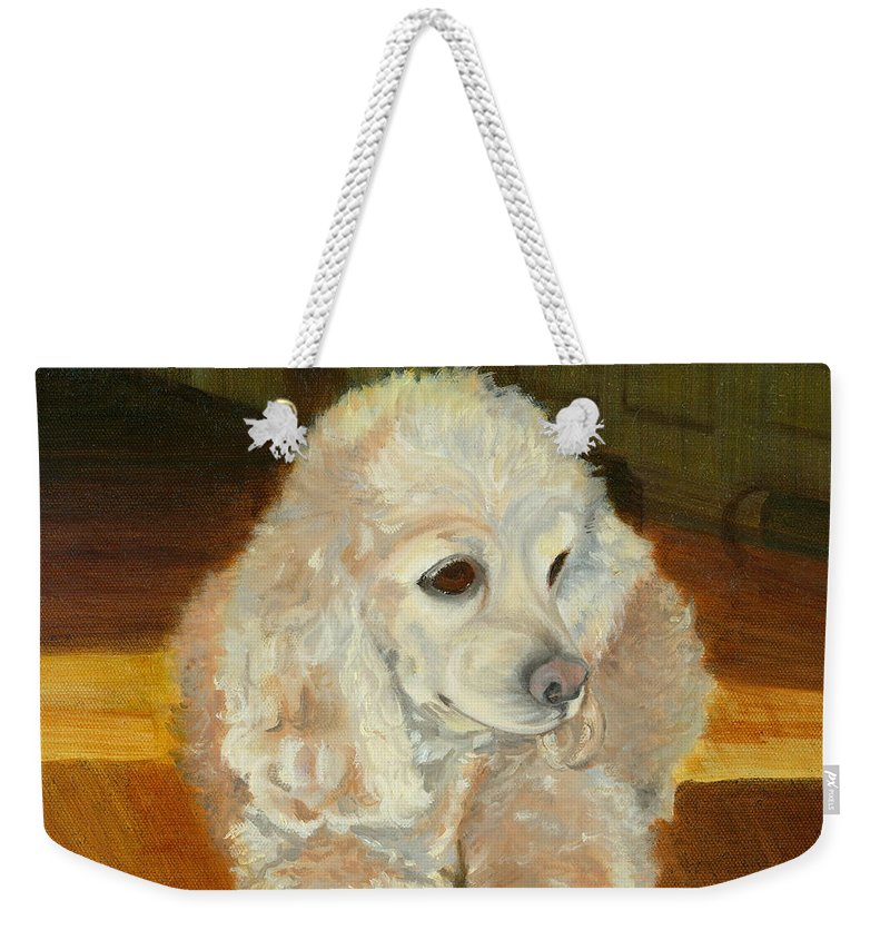 Animal Weekender Tote Bag featuring the painting Remembering Morgan by Paula Emery